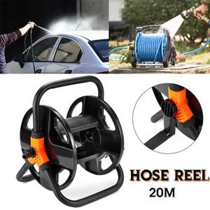 Home Water Hose Reel Garden 20M Water Hose Reel Cart Storage Rack Holder Winding Waterpipe Bracket Shaking Tools