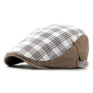 Men's Hat Spring Summer Retro Cotton Berets Unisex Adjustable Size Simple Brand Caps Duck Tongue Cap For Women