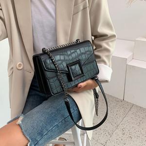 HBP 2021 Ketten Bolsas Crossbody Taschen für Frauen Leder Messenger Bags für Mädchen SAC A MAIN FEMME Weibliche Leder Schultertasche Neu
