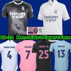 REAL MADRID Jerseys 20 21 Fußball-Trikot GEFAHR SERGIO RAMOS BENZEMA VINICIUS camiseta Fußballhemd Uniformen Männer + Kinder Assemblies 2020 2021