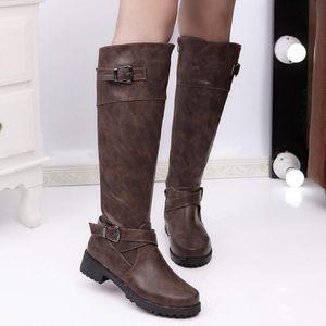 SAGACE shoes women Fashion short plush Belt Buckle Boots Student Casual Middle Tube Large Size Boots women high heel 2020DEC24