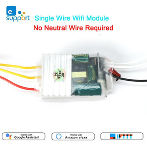 Single Live Wire wifi Module 1 2 3gang RF433mhz Switch No Neutral Wire Required MINI DIY Switch Voice control by Alexa