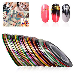 39 colori Nail Striping Decalcomanie Stail Tips Linea nastro laser per fai da te 3d nail art Tips Decorazioni Nail Foil Decalcomanie Set DHL Ship