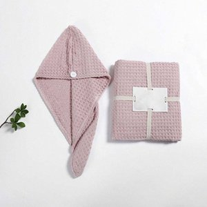 4 Pcs Bath Towel Triangle Dry Hair Cap Hair Band Suit Sets Cotton for Adult Soft Absorbent Bathroom Quick Dry D62D#