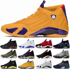 2021 새로운 14 14S 남성 야외 신발은 검은 색 발가락 체육관은 사탕 수수 하이퍼 Loyel 대표팀 로얄 사막 모래 망 스포츠 아웃 도어 신발 빨간색