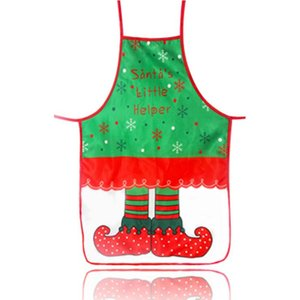 Wholesale Christmas decoration apron cloth art color printing decorative props waistband cartoon christmas clothes hjyhuty