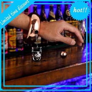 3.5oz 100ml Stainless Steel Bracelet Hip Flask Bracelets Bottle Portable Round Glasses Party Decoration Wine Container LJJP769