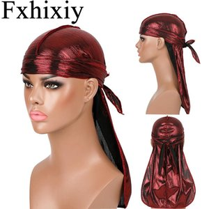 Hair Accessories Silky Durag Breathable Bandanas For Women Men Extra Long Tail Pirate Hat Waves do doo du rag Turban Headwear