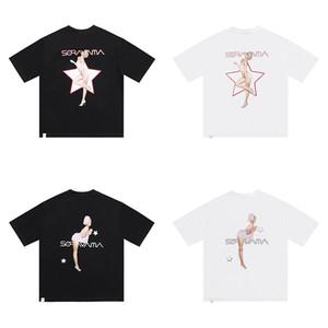 20SS Fashion di alta qualità Giappone Sexy Donne Stampa T-shirt uomo e donna Tee Street Cotone Manica corta Tshirt