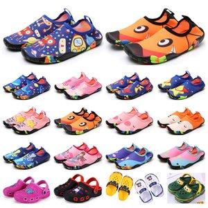 Toptan Çocuk Spor ayakkabı Wading Nefes Sandalet Plaj Kaymaz Aşınmaya dayanıklı Karikatür Delik Ayakkabı Erkek Kız Yaz Eğitmenler
