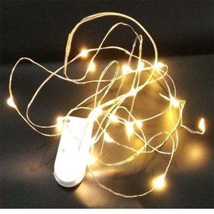EU3zp LED-Taste kreative Back serielle Batteriekette Lampenschnur Laterne Batterie Dekoration Kuchen Kuchendekoration Heizlampe q9UWh