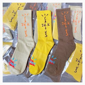 Travis Scott Mens Fashion Socks Casual Cotton Breathable with 3 Colors Skateboard Hip Hop Socks for Male