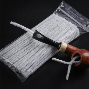 100PCS Cotton Tobacco Smoking Pipe Cleaning Tool Smoke Pipe Cleaner for Cleaning brush Soft Unbleached Absorbent Pipe Cleaner