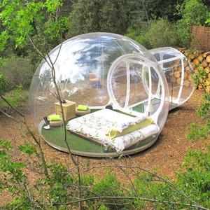 Chambre gonflable Bubble Hotel Resort 3M Souffleur sans ventilateur Free Salon Show Show Bubble Tente Camping Dôme Tente de la tente de pelouse Livraison gratuite