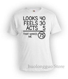 75. Geburtstags Bday Individuelle Birthday Looks 40 Feels 30 Acts 5 Das macht mich 75 Jahre alt Damen Bg78 Sport SweatshirtHoodie-T-Shirt