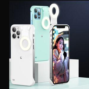 Selfie Lampe Telefonkasten mit Schönheits-LED-Blitzlicht für iPhone 12 Mini Pro max Mobiltelefon Back Cover-Fälle