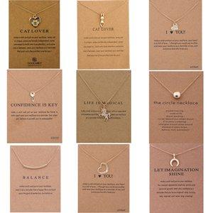 Retro Weinlese-Tier-Katze Vogel-Feder-Schädel-Halskette für Frauen Mädchen 2019 Mode Halsketten-Anhänger weiblich Statement Schmuck Geschenk-Anhänger