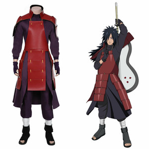 NARUTO0 Uchiha Madara Cosplay Costume Top Pants Outfits Halloween Suit