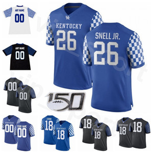 Футбольный колледж NCAA Lynn Bowden Jr Jersey Kentucky Wildcats Sawyer Smith Benny Snell Стивен Джонсон Стэнли Уильямс Патрик Таулины Дом
