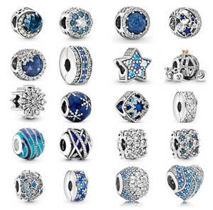 2021 NEW 100% 925 Sterling Silver with Original box Fashion love for Pandora women Bracelet Scattered beads Jewelry DIY Making