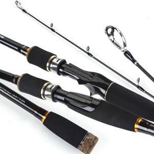 6 7 8 9 ft Portable Carbon Sea Lake Fishing Lure Rod Durable Distance Casting Spinning Hard Pole 3 4 Sections Fisherman Tackle