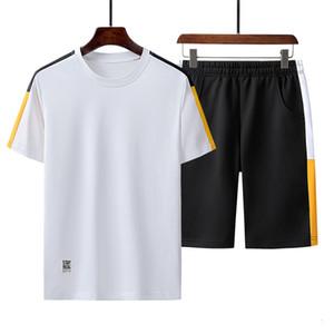 2021 New Leisure Men Summer Fashion Track Tee Shirt + Shorts Men's Sport Suit Jogger Sets Man Breathable Sweat Suits 1V4G