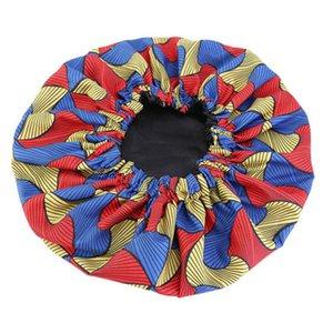 Extra Large Print Modello in tessuto di raso Bonnet sonno Cap africano Ankara Cappello sonno Nightcap Bonnets