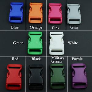 50pcs lot 15mm 20mm 25mm Plastic Color Contoured Side Release Buckles For Paracord shoes Bags DIY Accessorie