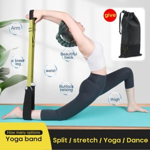 New Yoga Stretching Tension Band One-Word Tension Rope Split Training Splits Elastic Stretch Belt Brace Auxiliary Supplies Women