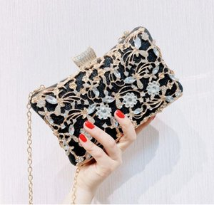 2020 Fashion Women Evening Clutch Bag Handbags Female Day Clutch Wedding Purse Party Banquet Pink   Gold   Black Chain Shoulder Bags