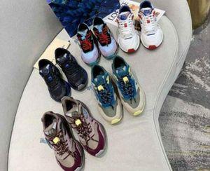 2020 Designer Luxo Top Quality Sapatos Esportivos Homens e Mulheres Jogging Sapatos Camurça Calfskin e Lightweight Malha Esportes Ao Ar Livre Sapatos de Esportes Tamanho35-45