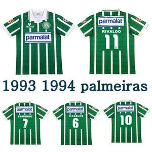 1993 1994 Palmeiras 레트로 축구 유니폼 93 94 Edmundo Zinho Edilson Rivaldo Evair Roberto Carlos 빈티지 클래식 축구 셔츠
