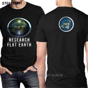 Forschung Flat Earth T Zwei Seiten Cotton T-Shirt New Herren T-Shirt beiläufige Stolz T-Shirt Männer Unisex Art und Weise kühlen shirt 2001310