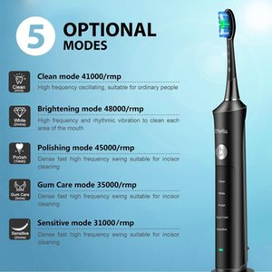 O'BELLA 071B Sonic Electric Toothbrush Rechargeable 48000RPM Rechargeable Oral Adult Tooth Brushes With 4 Pcs DuPont Replacement 201118