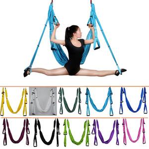 12 color combinations, 6 air defense handles, aerial Yoga ceiling hammock swing track Yoga reversing device