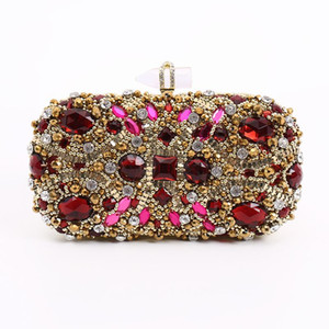 2020 Luxury Handbags Women Bags Designer Ruby Diamond Clutch Wallet Wedding Party Banquet Ladies Evening Bags S108
