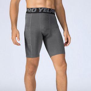 VERTIVE New Men Tight Shorts Fitness Pocket Shorts Quick Dry Exercise Elastic Sports Short Running Wear Skinny Sweatpants