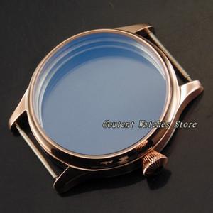 44mm Corgeut Stainless Steel Watch Case Kit Eta 6497 6498 Seagull St36 Movement Men's Wristwatch Shell