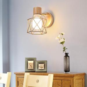 Minimalist Creative Wall Light Led Bedroom Bedside Iron Decor Living Room Corridor Hotel Wall Lamps 5W Bulb Included AC85-265V