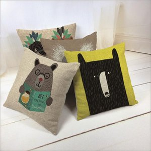 cartoon Animal cushion cover Dog for children Decorative Cushion Covers for Sofa Throw Pillow Car Chair Home Decor Pillow Case