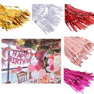 2M Glitter Fringe Tinsel Foil Curtain-Geburtstags-Party Kulisse Vorhang Geburtstag Hochzeit Dekoration Erwachsener Jahrestag Dekor