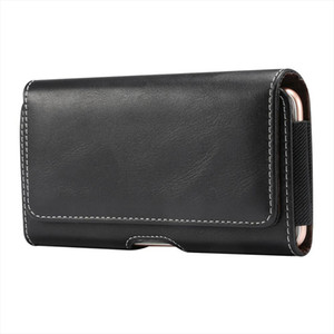 Brand 4.7~6.9 Inch Men Waist Packs Phone Pouch Bags 5 Size Belt Clip Case Waist Bag Litchi Grain Mobile Phone Bags Fanny