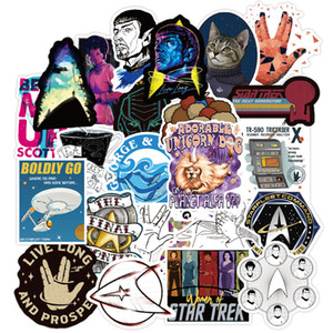 70Pcs Lot Star Trek Space Cartoon Graffiti Sticker For Luggage Car Guaitar Skateboard Phone Laptop DIY Bicycle Decals Stickers
