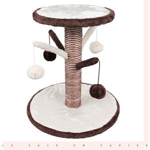 Nouveau cadre d'escalade de chat Griffoir chat Sisal arbre d'escalade Pet Toy sauter plate-forme de fournitures pour animaux usine vente directe