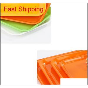 27*20cm 33*25cm Rectangular Breakfast Plate Plastic Tray Hotel Cake Fast Food Bread Fruit Tr qyljJU lyqlove