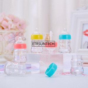 10 30 50pcs 6ml Milk Baby Bottle Plastic Lipgloss Empty Tube Cosmetic Novelty Nipple Lip Gloss Packaging Container F39301
