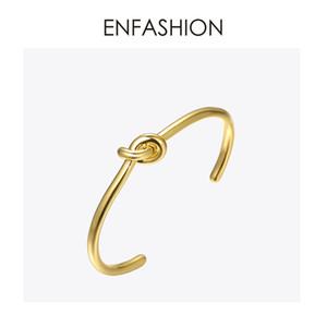 Enfashion Großhandel Knoten Manschette Armband Manchette Rose Gold Farbe Bangle Armband Für Frauen Armbänder Armreifen Pulseiras J190719