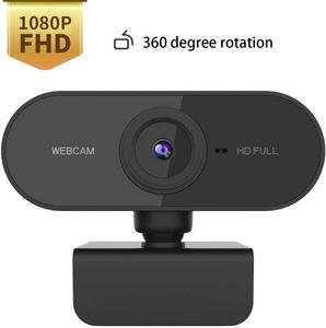 1080P Webcam with Microphone, Webcam 1080P HD Pro Stream Video Streaming, 360 Degree Base Rotation,PC Laptop Desktop USB Full HD Web Camera