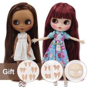 NCY DBS Blyth Doll Nude Factory совместная кукла моды моды с ручным комплектом AB и лицевой платы девушка Кукла Специальная цена 201203