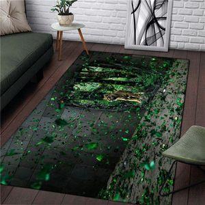 غرفة الحيوان سجاد الرئيسية Tapetes نزهة ساحة السجاد الأخضر مطبخ البساط هدايا عيد الميلاد حمام غرفة المعيشة أزياء بنين RUG 01hZ #
